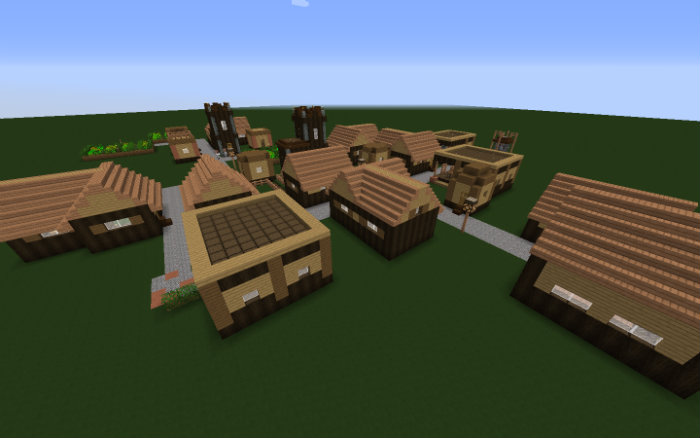 village-up-roofed-forest