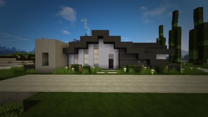 small modern home map for minecraft 1 8 8 minecraftsix