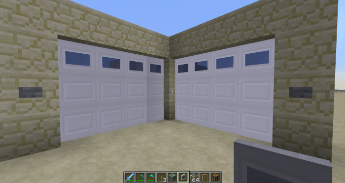 How To Build A Sliding Glass Door In Minecraft