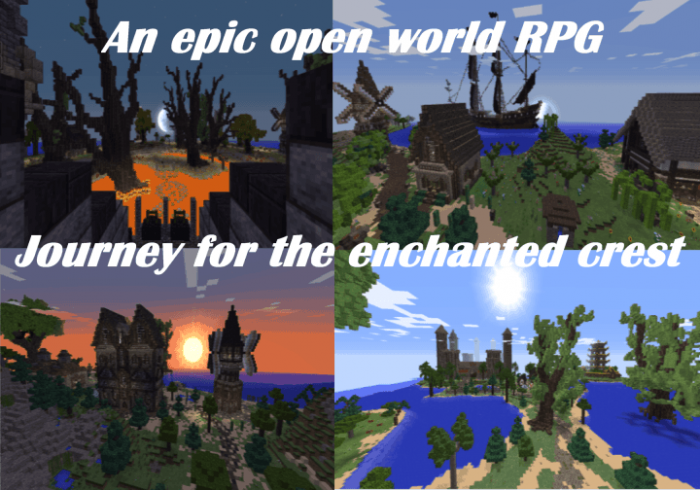 the journey for the enchanted crest map